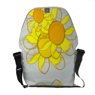 Funky Yellow Flowers Courier Bags