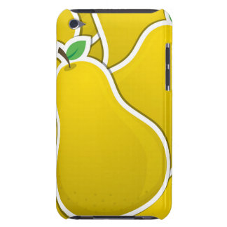 Funky yellow pear barely there iPod case