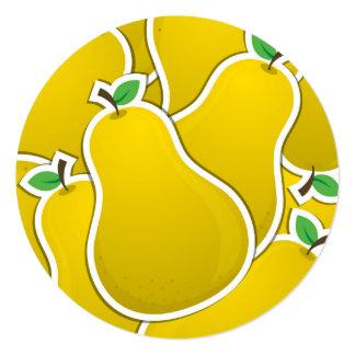 Funky yellow pear card