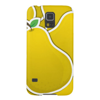 Funky yellow pear galaxy s5 covers