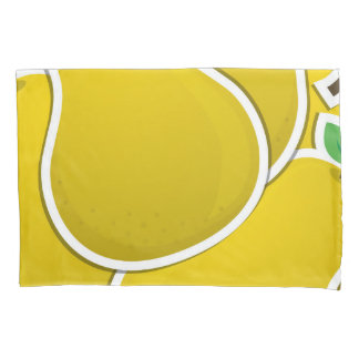 Funky yellow pear pillowcase