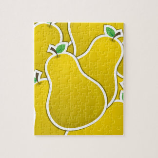 Funky yellow pear puzzle