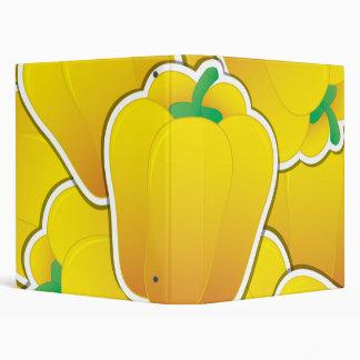 Funky yellow pepper 3 ring binder