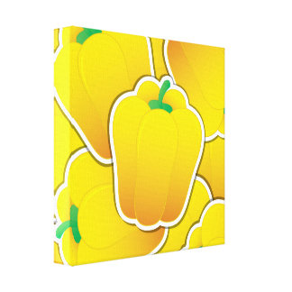 Funky yellow pepper canvas print