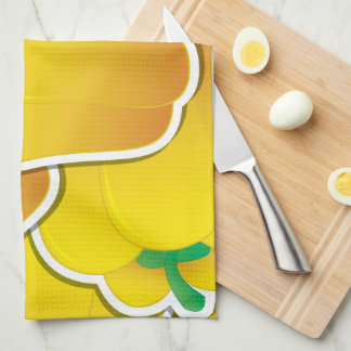 Funky yellow pepper towel