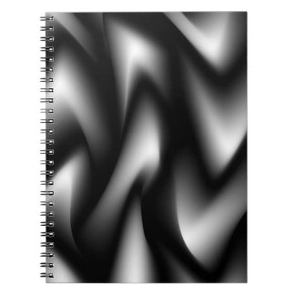 Funky Zebra Abstract Black and White Notebook