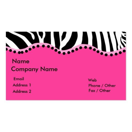 Funky Zebra Business Card