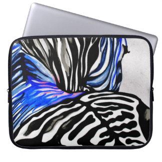 Funky Zebra (Kimberly Turnbull Art) Laptop Sleeve