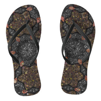 Funky Zebra Textured Abstract Flip Flops