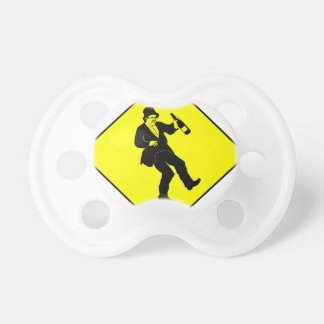 Funn Drunk Man Sign Baby Pacifiers