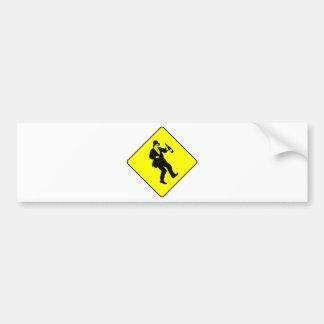 Funn Drunk Man Sign Bumper Sticker