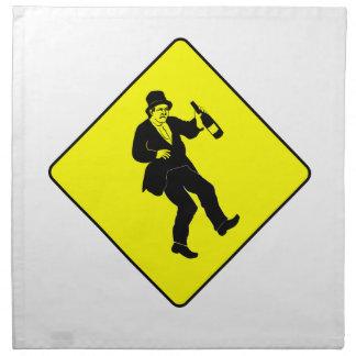 Funn Drunk Man Sign Printed Napkin