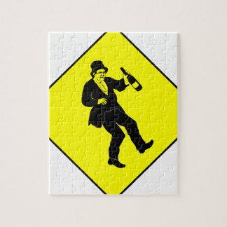 Funn Drunk Man Sign Puzzle
