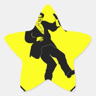 Funn Drunk Man Sign Star Sticker