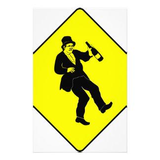 Funn Drunk Man Sign Stationery Design