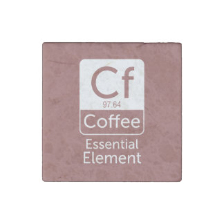 FunnFunny Chemistry Pun Joke coffee essential elem Stone Magnets