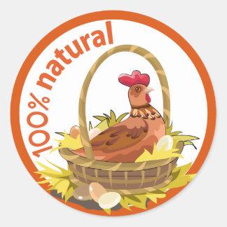 "Funny ""100% natural!"" sticker."