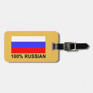 Funny 100 percent Russian Gift Present Bag Tag
