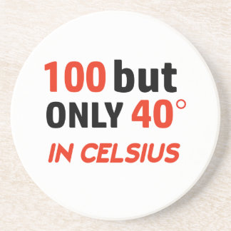 Funny 100th birthday design coaster