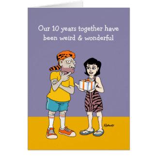 Funny 10th Wedding Anniversary Card