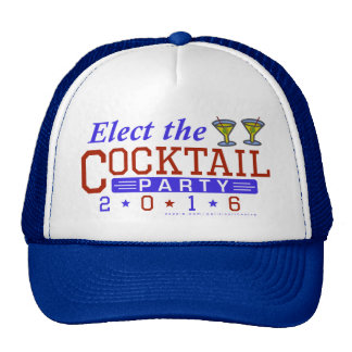 Funny 2016 Election Parody Cocktail Party Trucker Hat