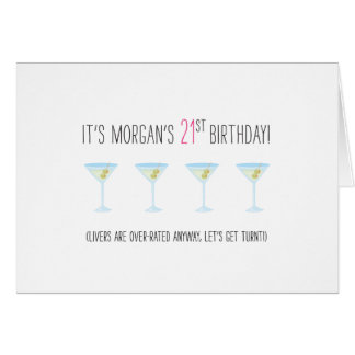 Funny 21st Birthday Card - Livers Are Overrated