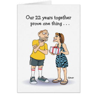 Funny 22nd Anniversary Card