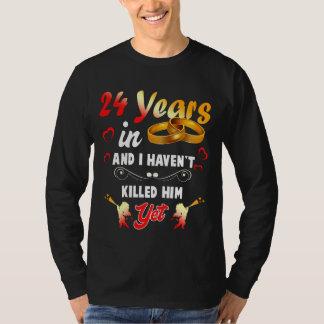 Funny 24th Anninversary Shirt. T-Shirt