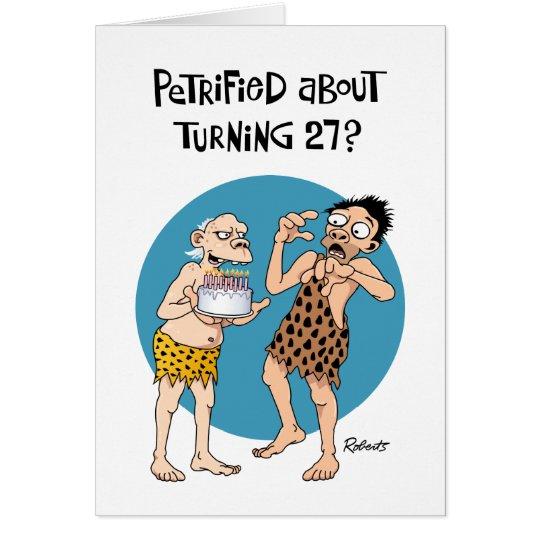 Funny 27th Birthday Card
