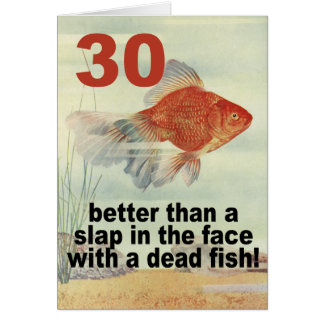 Funny 30th card