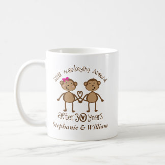 Funny 30th Wedding Anniversary His Hers Mugs