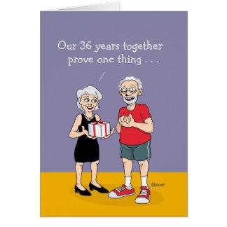 Funny 36th Anniversary Card