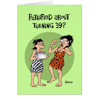 Funny 39th Birthday Card