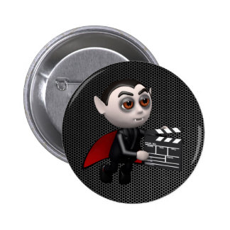 Funny 3d Dracula Vampire Movie Buttons