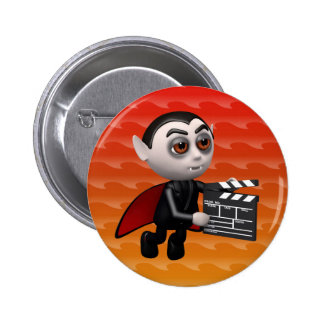 Funny 3d Dracula Vampire Movie Pinback Buttons