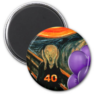 Funny 40th Birthday 2 Inch Round Magnet