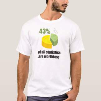 Funny - 43% of all statistics are worthless T-Shirt
