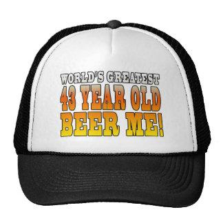 Funny 43rd Birthdays : Worlds Greatest 43 Year Old Trucker Hat