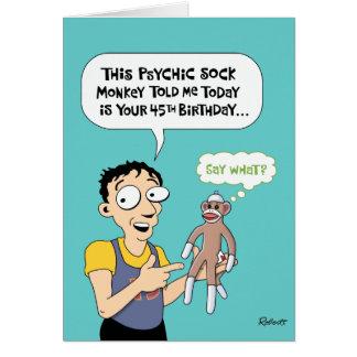 Funny 45th Birthday Card