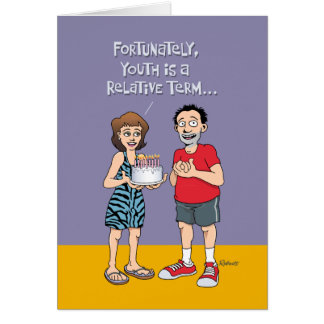 Funny 45th Birthday Greeting for Him Card