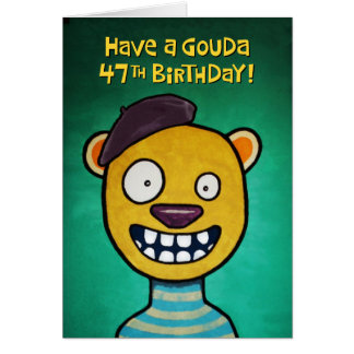 Funny 47th Birthday Card for Women
