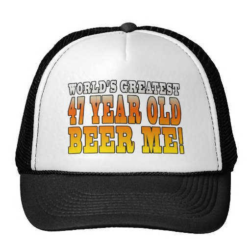 Funny 47th Birthdays : Worlds Greatest 47 Year Old Mesh Hats