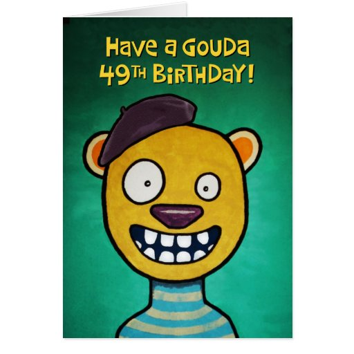 Funny 49th Birthday Card for Women