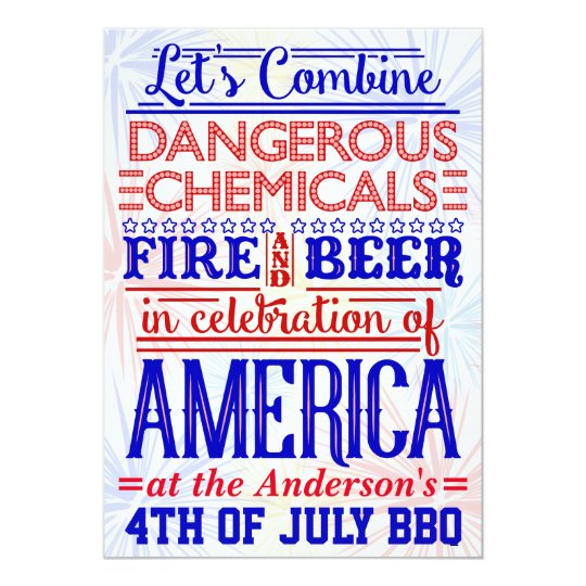 Funny 4th of July BBQ Party | Humourous Barbecue Card