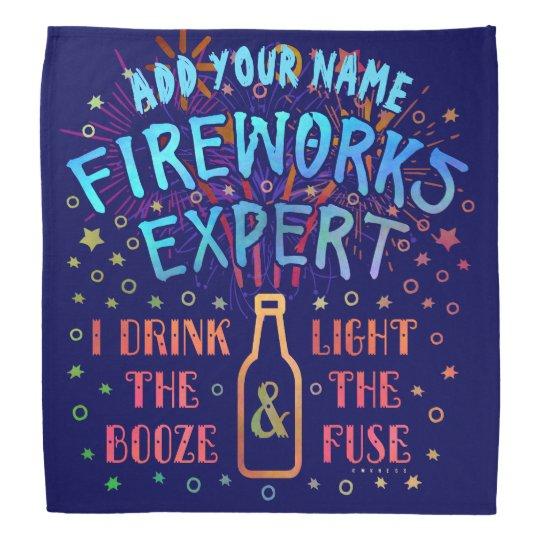 Funny 4th of July Independence Fireworks Expert V2 Bandana