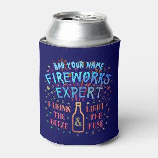 Funny 4th of July Independence Fireworks Expert V2 Can Cooler