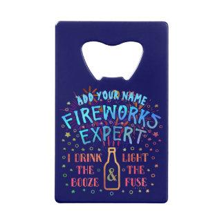 Funny 4th of July Independence Fireworks Expert V2 Wallet Bottle Opener