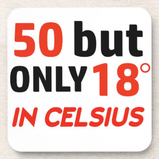 funny 50 birthday design coaster