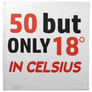 funny 50 birthday design napkin