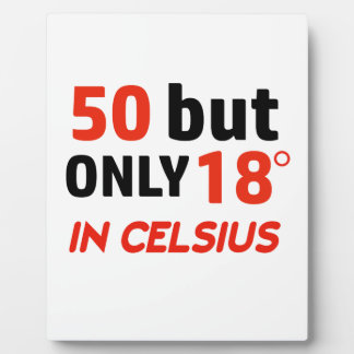 funny 50 birthday design plaque